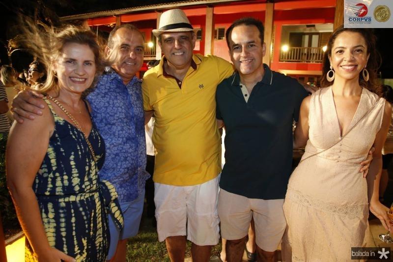 Diana, William e Andre Vercosa, Emilio e Sofia Guerra