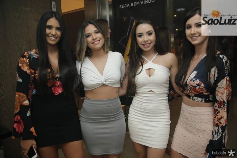 Barbara Rodrigues, Samea Goveia, Edilene Freitas e Rochelle Porto