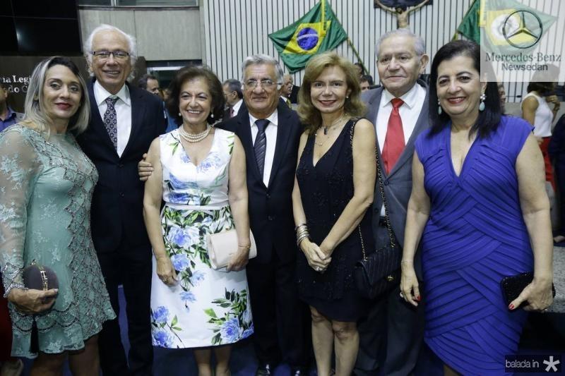 Veronica e Marcelo Montenegro, Ines e Sergio Benevides, Eveline e Marcelo Freitas e Fatima Serpa
