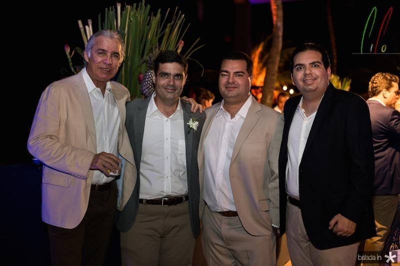 Osvaldo Studart, Stenio e Rodrigo Pimentel, Michel Suleiman