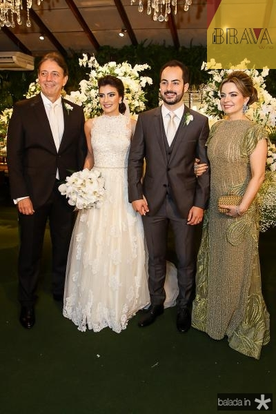 Afranio Barreira, Beatriz Pontes, Felipe e Daniele Barreira