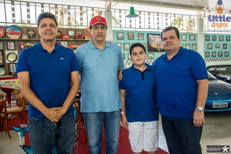 Marcos Oliveira, Ricardo Lopes, Renne Freire Neto e Renne Freire Junior