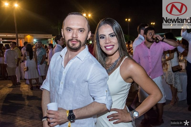 Carlos Gilson e Aline Sobral