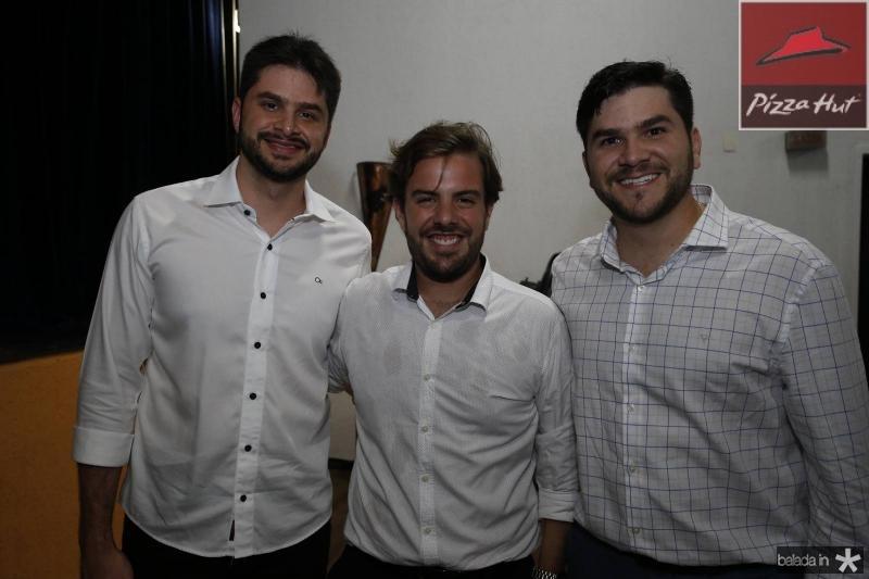 Guilherme Landim, Claudio Nelson e Gilvan Landim