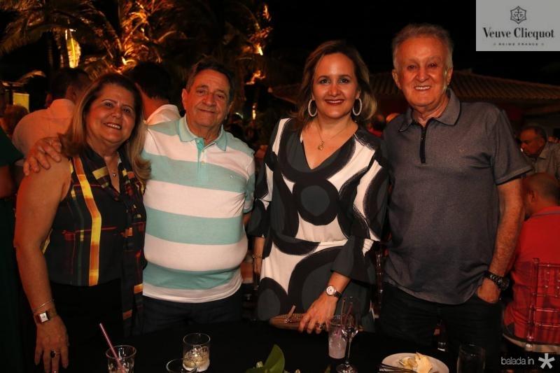 Olga e Joao Santana, Ana e Antonio Guerra