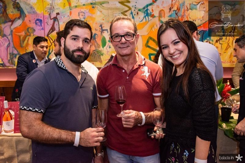 Felipe Rocha, Marco Ferrari e Isabela Tavares