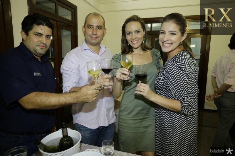 Cleiton Mariano, Andre Linheiro, Cintia Sampaio e Leiliane Pinheiro