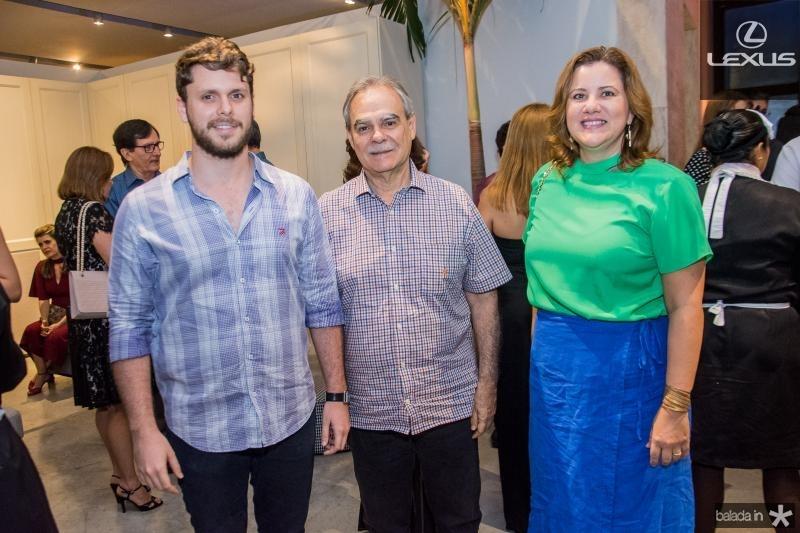 Victor Perlingeiro, Max Perlingeiro e Luciana Eloy