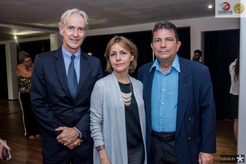Marcos Pompeu, Circe Jane e Fernando Castelo Branco
