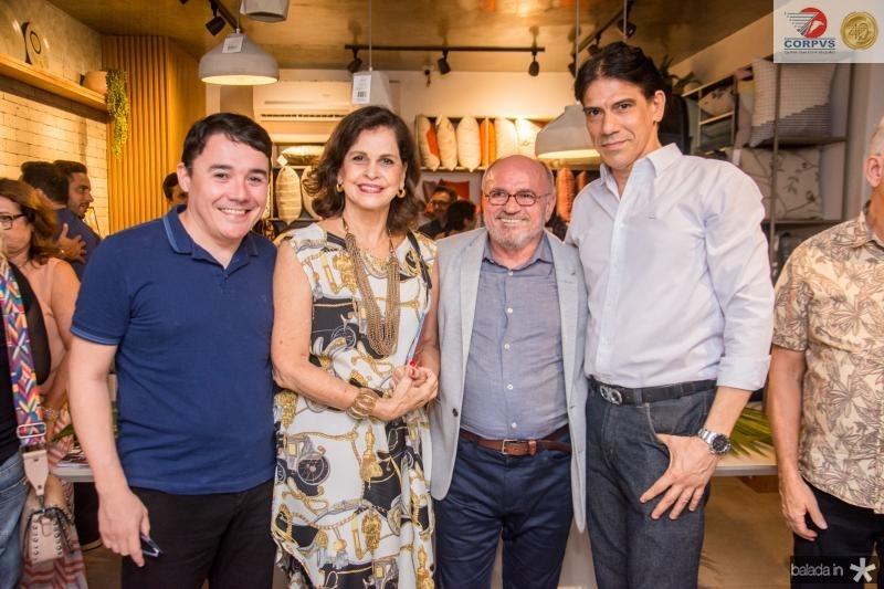Junior Gomes, Elizabeth Fiuza, Vando Figueiredo e Wilson Loureiro