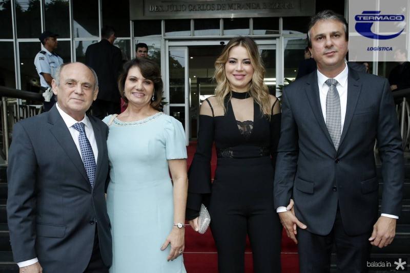 Gladyson e Neide Pontes, Onelia e Camilo Santana