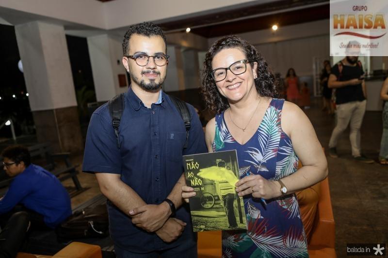 Natan Marreiro e Fabia Araujo