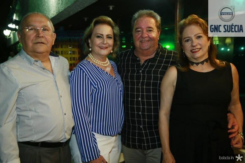 Adaly e Fatima Arraiz, Chiquinho e Cristina Aragao