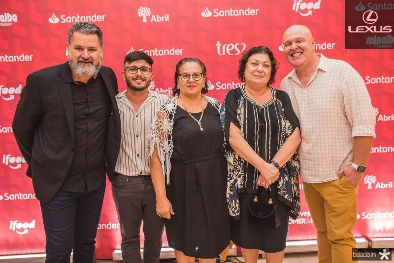 Willian Hagopian, Pablo Mesquita, Rejane Ribeiro, Simone Souto e Ricardo Vertico