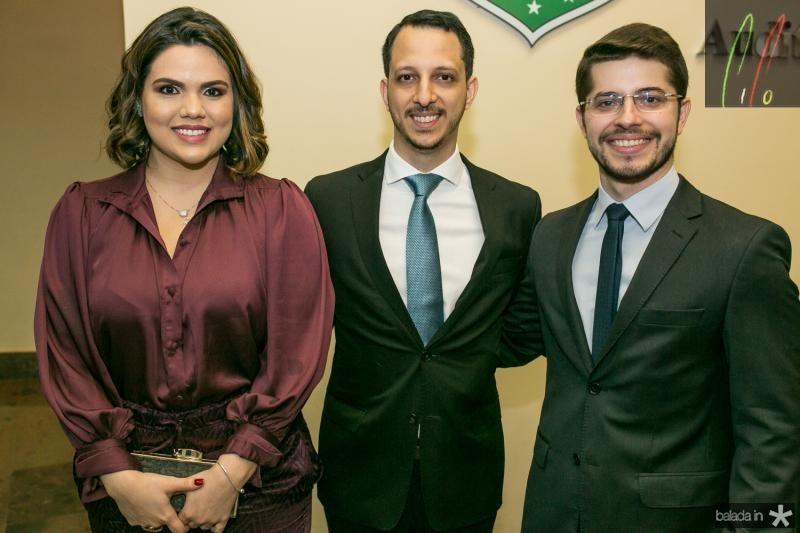 Priscila Amaral, Vinicios Vilardo e Emanuel Gurgel