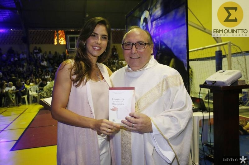 Marilia Fiuza e Padre Eugenio Pacelli