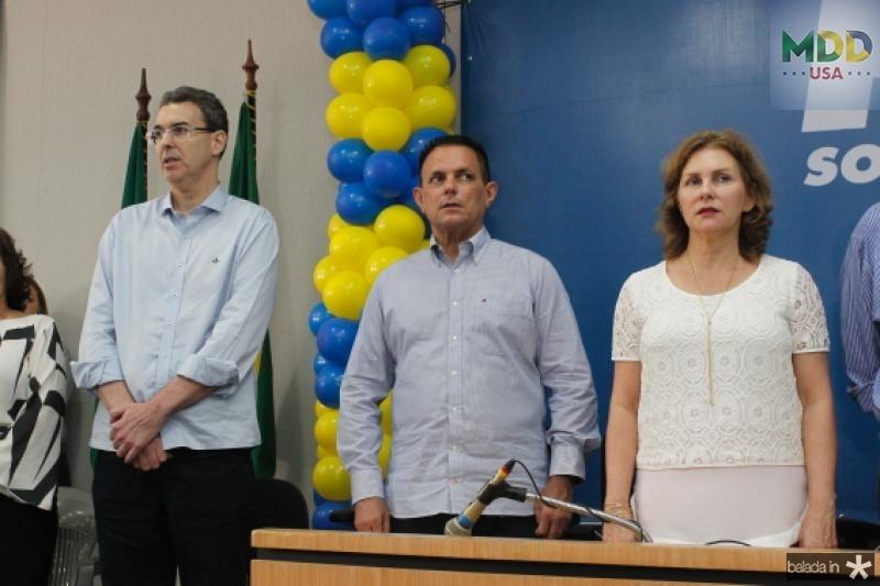 Geraldo Luciano, Placido Sobreira e Renata Jereissati