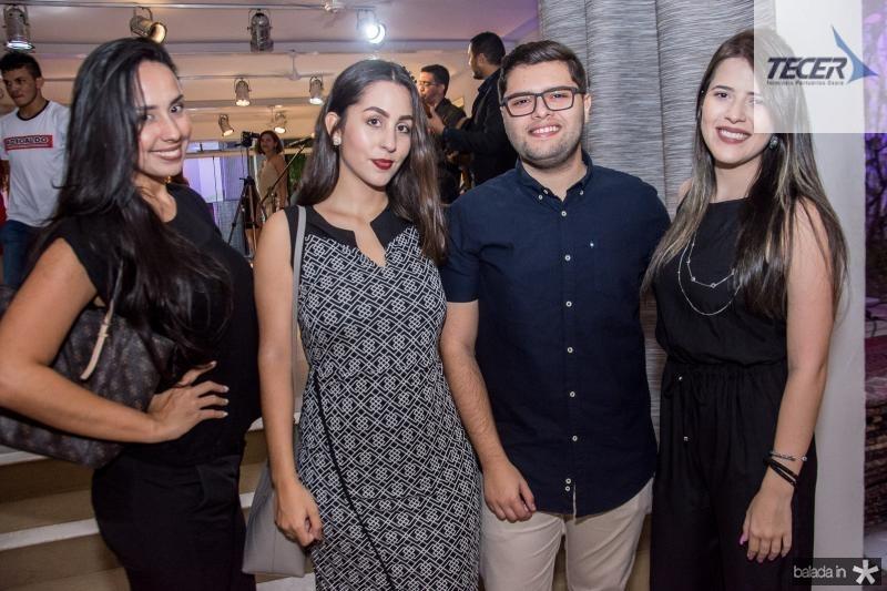 Marilia Benevides, Ivina Mascarenhas, Diego Pinheiro e Nathalia Leal