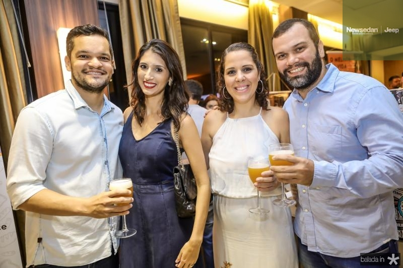 Daniel Carvalho, Iza Cimonette, Juliana Fernandes e Leonardo Parente