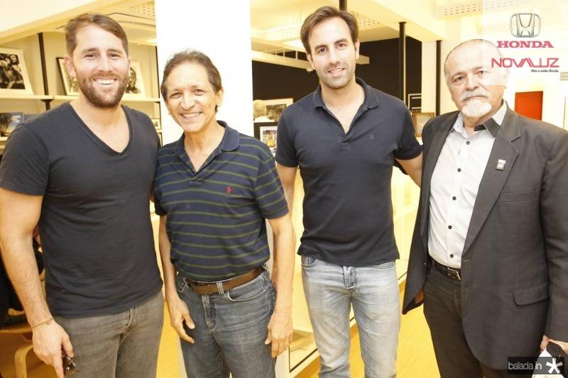 Rodrigo Frota, Djalma Pinto, Vitor Frota e Reginaldo Vasconcelos