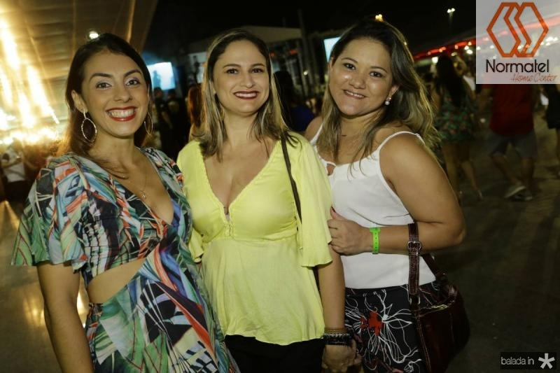 Daniele Braga, Adriana Barros e Maria Araujo