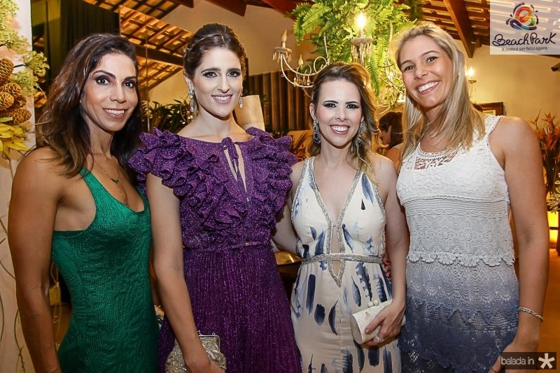 Synara Leal, Rebeca Leal, Aline Ferreira Gomes e Flavia Silveira