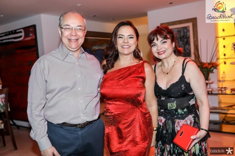 Roberio Leite, Denise Cavalcante e Cris Leite