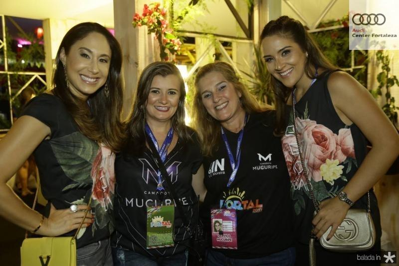 Larissa Coelho, Sandra Bezerra, Lolo Aguiar e Natalia Marques