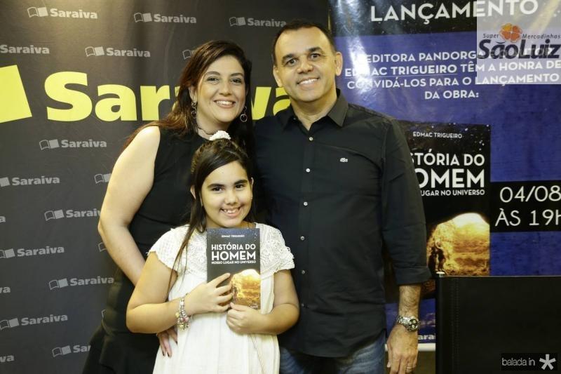 Lana, Giovana e Edmac Trigueiro