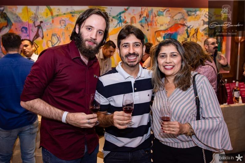 Augusto Maia, Felipe Adjafre e Alana Reboucas