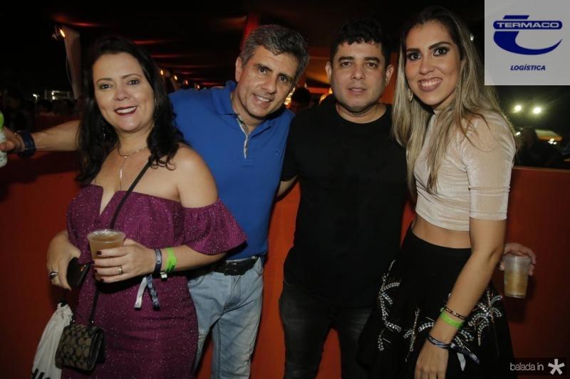 Tatiana e Silvegar de Castro, Wellington Elias e Jessica Carneiro