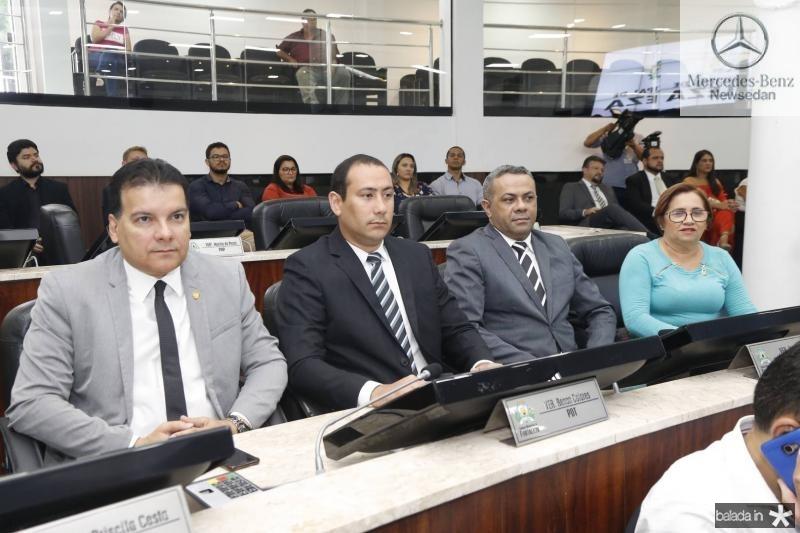 Esio Feitosa, Renan Colares, Evaldo Costa e Marilia do Posto