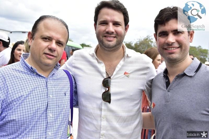 Claudio Pinho, Leo Couto e Bruno Barreira