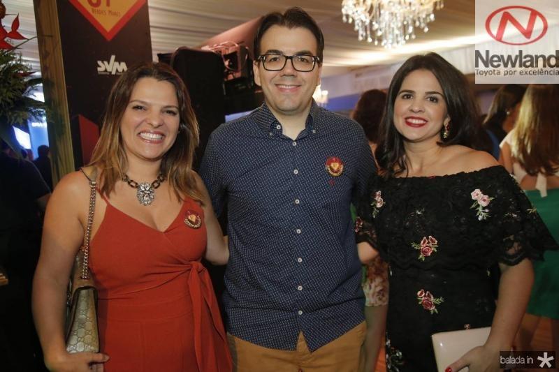 Ivana Pimentel, Gustavo Rocha e Livia Medeiros