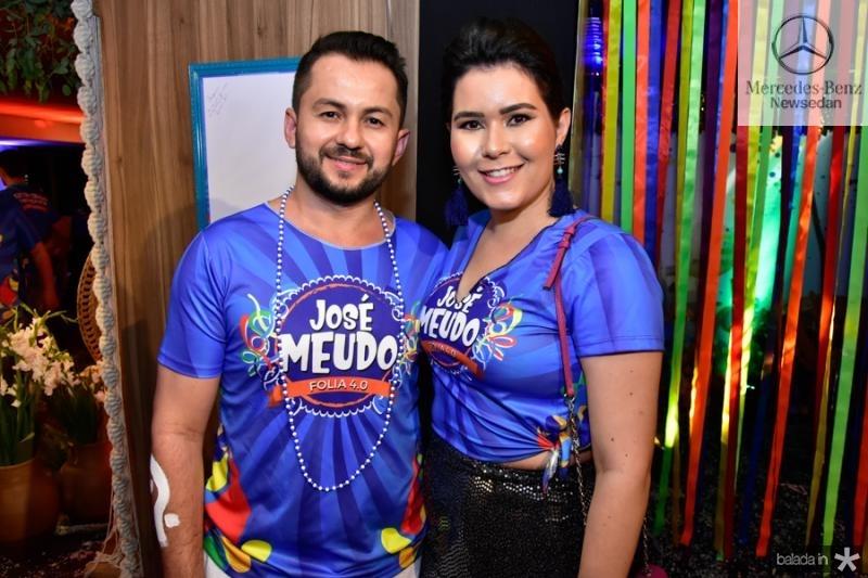 Francisco Andrade e Carolina Bezerra
