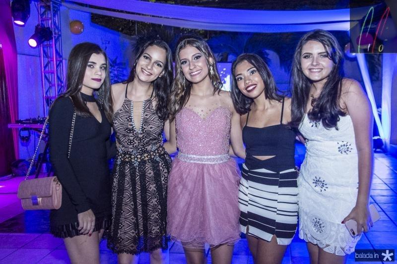 Kimberly Lins, Maria Lorena, Mirella Salema, Lara Costa e Luiza Dantas