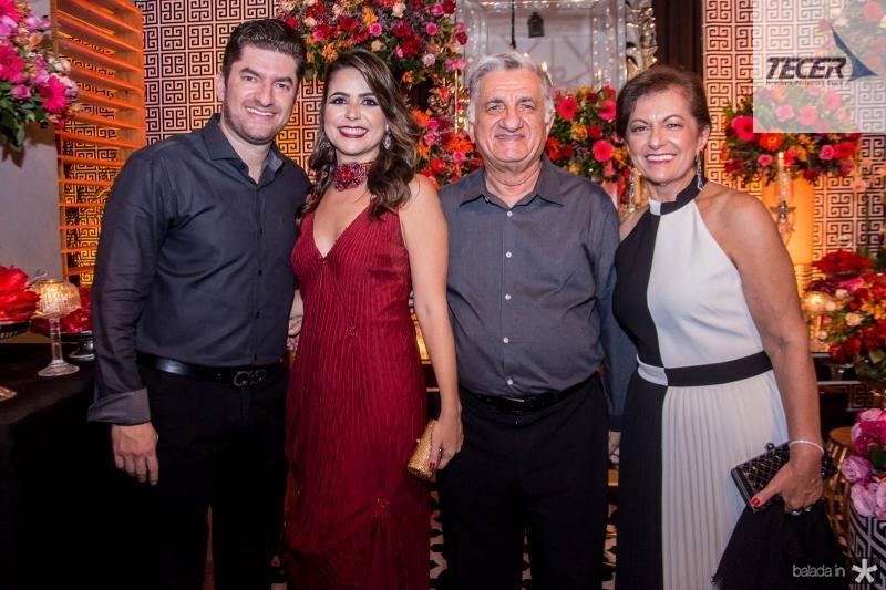 Paulo Jose, Camila, Sergio Armando e  Maria Ines Benevides