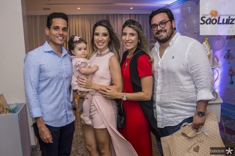 Rafael Sa, Sara Sa, Liana Sa, Patricia Santiago e Alcimor Rocha