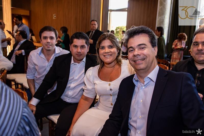 Francisco Philomeno, Pompeu Vasconcelos, Gisela Vieira e Duda Brigido