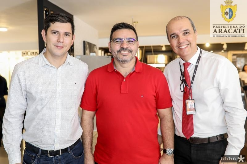 Alan Ribeiro, Sandro Morais e Julio Freire