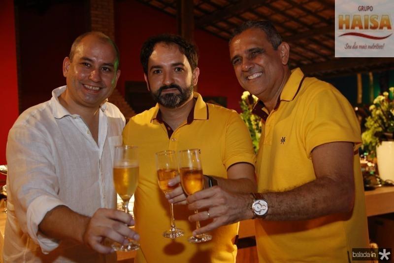 Andre Linheiro, Pedro Neto e Andre Vercosa