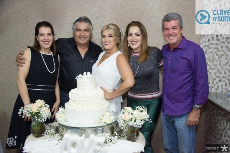 Fernanda Aguiar, LC Moreira, Adriana, Silvana e Sergio Aguiar