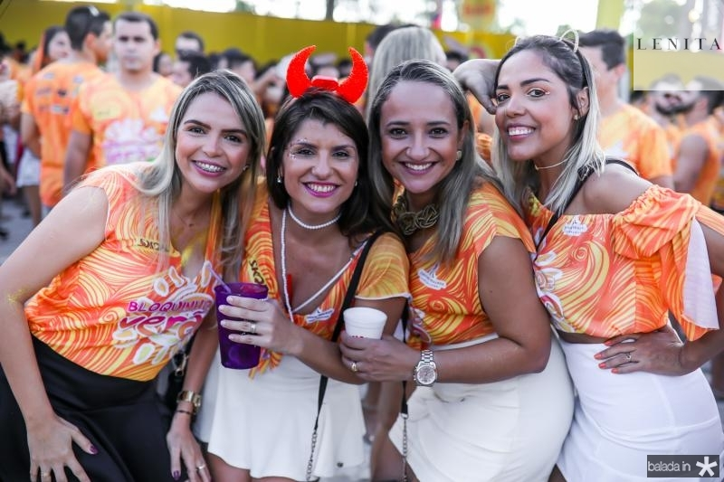 Rafaela Maia, Renata Duque, Lidiane Dantas e Emanoele Jansen