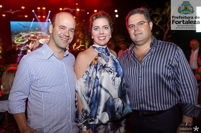 Henrique Soarez, Ticiana e Edson Queiroz Neto