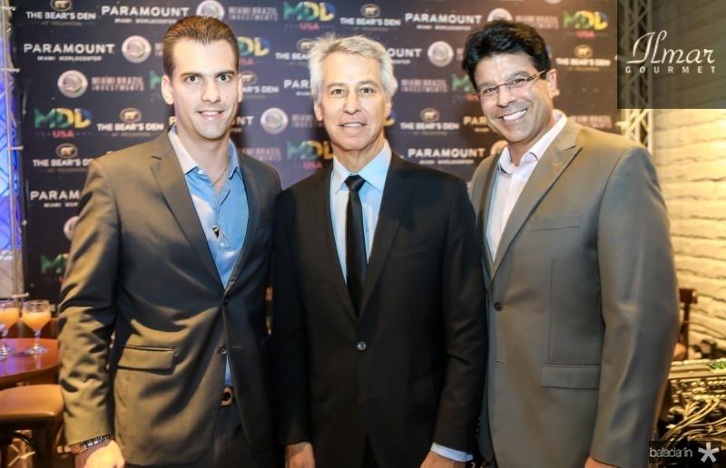 Felipe Teixeira, David Eisner e Ronaldo Otoch