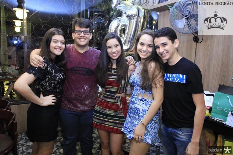 Carol Cortez, Joao Pedro Fiuza, Natalia Marinho, Maria Caroline e Diogo Azevedo