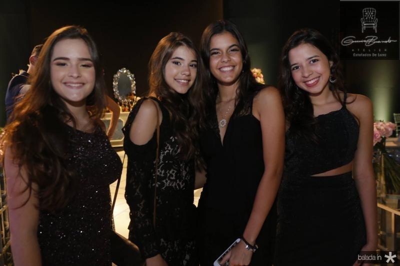 Milena Pinheiro, Livia Diogenes, Camila Nascimento e Rayane Machado