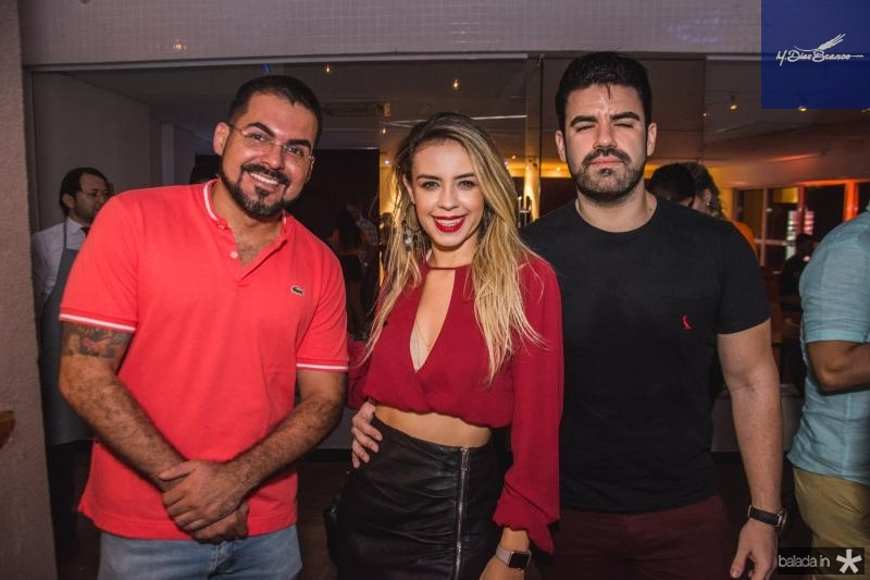Thiago Oliveira, Enila Alves e Aluisio Parente
