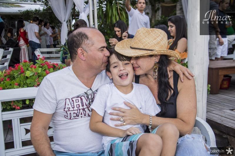 Marcio Menezes, Pedro Fiuza e Izabela Fiuza