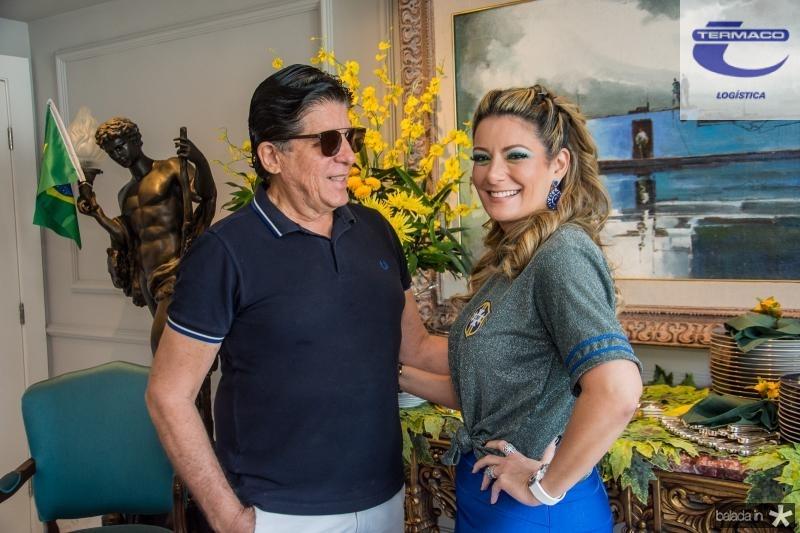 Dito Machado e Tatiana Luna